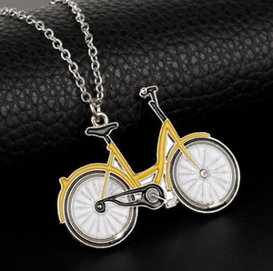 Wholesale dongsheng Hot Sale New Stranger Things Bicycle Long Chain Necklace Lovely Bike Choker Pendant Necklace Women Men Jewelry