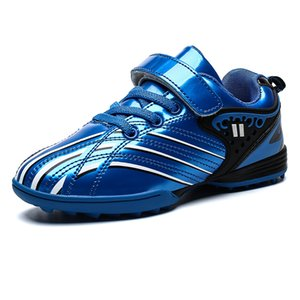 Wholesale Professional Kids Soccer Shoes Red Blue Boys Girls Indoor Sport Sneakers Football Footwear Children Athletics Shoes