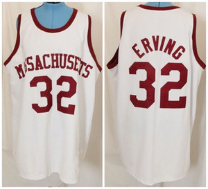 Wholesale Massachusetts UMass College #32 Julius Dr. J Erving Retro Classic Basketball Jersey Mens Stitched Custom Number and name Jerseys