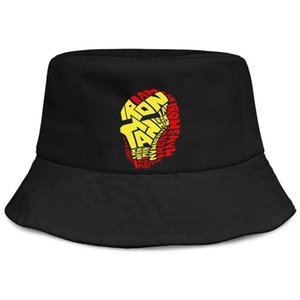 Iron Man Logo Round Computer Mouse Pads black men fishing bucket sun hat cool blank personalized fashion classic bucket suncap