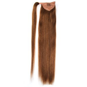 peinados de cola de caballo al por mayor-Ponytail Human Hair Remy Straight Ponytail European Hairstyles g Natural Hair Clip en Extensiones