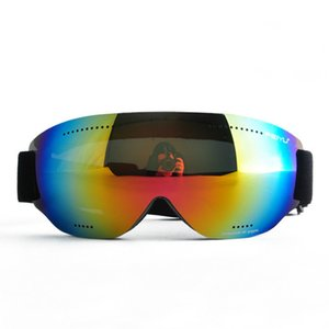 Wholesale Cheap Women Single Lens Ski Goggles Men Windproof Anti Fog UV400 Ski Glasses Skiing Snowboarding Cycling Goggles Frameless