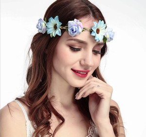 Wholesale Europe and the United States creative new sunflower rose hair band hair accessories women s fresh flower headband photo photo