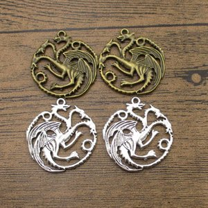 Wholesale Round Dragon Charms mm Medieval Knight Dragons Jewelry DIY Supplies Earring Pendants Colors Available WY1161