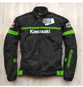 Wholesale Motocross jacket for KAWASAKI Team Green Professional Motorcycle Racing Jackets with protective gearQ
