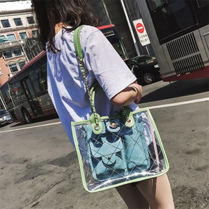 Wholesale Summer PVC Luxury Handbags Women Bags Designer Candy Color Jelly Purses And Handbags Crossbody Beach Bags For Women 2019 Sac