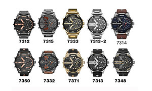Hot sell Sports Mens Watches Big Dial Display Top Brand Luxury watch Quartz Watch leather Steel Band Fashion Wristwatches on Sale