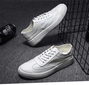 Wholesale lether shoe resale online - casual shoes for men triple white high quality comfortable lether shoes mens trainers sports sneakers size