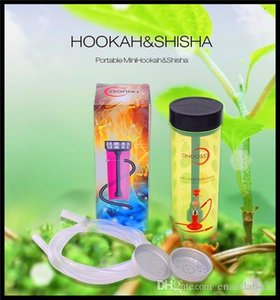 Wholesale mini hookah water filter for sale - Group buy Portable Mini Design Water Pipe Shisha Acrylic Smoking Pipe Accessories Cigarette Filter Tips Glass Mini Bottle Shisha Hookah