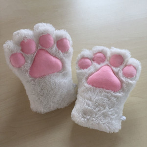 Soft Cat Claw Gloves Anime Costume Cosplay Accessories Plush Pet Paw Gloves Halloween Party Women Accessories TTA1500