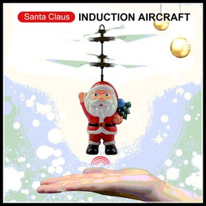 Hot Flying Inductive Mini RC Drone Christmas Santa Claus Induction Aircraft RC Helicopter for Kids Christmas Gifts on Sale