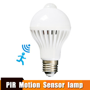 Wholesale Led Bulb With Motion Sensor Smart Light Bulb E27 V Led Lamp Light Bulb w w PIR Infrared Body Sound Light For Home Stair