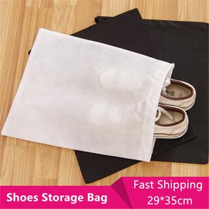 Wholesale 200PCS Set Tote Bag Carry Bag Travel Sports Shoes Canvas Sandals Dust Proof Drawstring Organizer Storage Pouch Dust Bag Protector Container