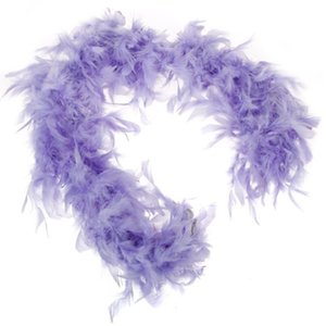 Purple Feather Boa Fluffy Craft Decoration 6.6 Feet Long