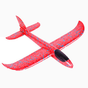 Wholesale 48cm Foam Throwing Glider model Air Plane Inertia Aircraft Toy Hand Launch Airplane Model To glide the plane Flying Toy for Kids Gift