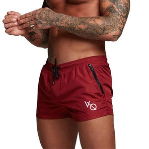 NANSHA Shorts Mens Bermuda 2019 Summer Men Beach Hot VQ Letter Solid Men Boardshorts Male Brand Gyms Shorts Casual Fitness