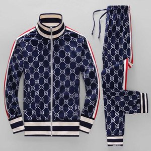 Wholesale 19ss year sportswear jacket suit fashion running sportswear Medusa men s sports suit letter printing clothing tracksuit sportsJacket sp