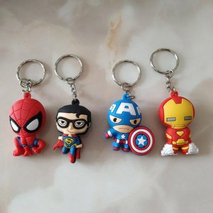 Wholesale The Avengers Figures Keychains The Avengers Marvel Iron Man Captain America Iron Man Super man PVC keychain kids toys