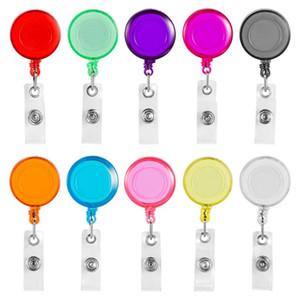 Wholesale Clip on Retractable Badge Reel with Belt Clip for ID Cards Badge Key Keychain Holders Different Colors