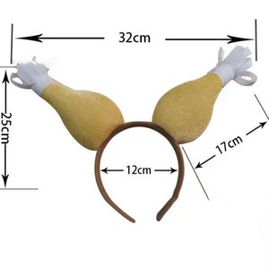 Thanksgiving Turkey Drumstick Headband For Festival Costume Party Accessory Women Hair Hoop drumsticks Hair Headband 5 styles