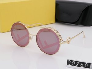 Wholesale New luxury women brand logo sunglasses men design metal vintage sunglasses F20238 fashion style square frame UV lens with original case