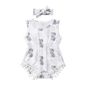 Wholesale elephant baby clothing resale online - 0 Month Newborn Romper Elephant Infant Baby Girl Playsuit Romper Clothes Toddler Baby Clothing Jumpsuit Sunsuit Outfit
