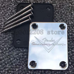 Custom Shop Chrome Golden Black F Neck plate For ST Tele Style Guitar bass