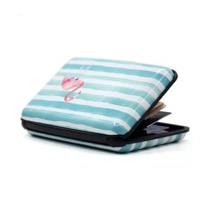 Hot sale Aluminum Wallet RFID Blocking Case Credit Card Holder Hard Case Custom womens watermelon flamingo card holder