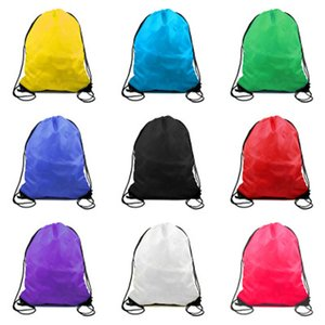 40cm x 60cm Customize Large Big Giant Polyester Drawstring Backpack Bag Outdoor Sports Camping Shopping Training Travel Backpack Bag 022