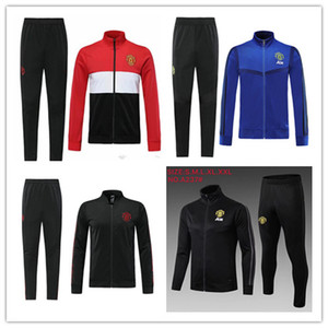Wholesale 2019 manchester tracksuit Survetement VESTE SET POGBA football JACKET kit Soccer Chandal LUKAKU UNITED full ZIPPER sweater suit