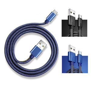 Wholesale High Quality A Cowboy Micro USB Cable M Fast Charger Denim Braided Cable Mobile Phone USB Cable