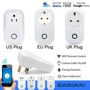 conector inteligente amazon al por mayor-2019 Smart Wireless Plug Fi tomas de corriente para Amazon zócalo Alexa Página principal de Google