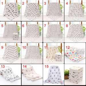 Wholesale toddler beds resale online - 15 styles baby Muslin Swaddles cotton Blankets Nursery Bedding Newborn Swadding Bath Towels x120cm toddler Nursery Bedding Blankets