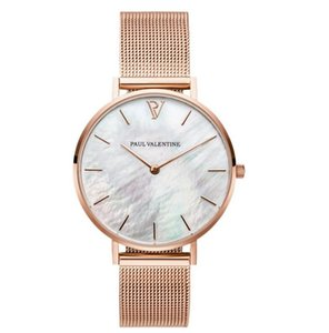 Wholesale christmas watches for women resale online - 2020 Paul valentine Watches for lady Stainless Steel Analog Quartz Watch Men Casual dress Sport Clock women watch Montre Homme