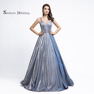 Wholesale Elegant A Line Deep Grey Evening Dresses Backless Formal Prom Party Gowns Cheap Maxi Dress Spaghetti