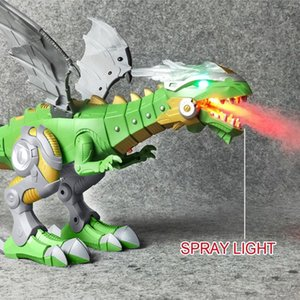 Wholesale Electric Toy Large Size Walking Dragon Toy Fire Breathing Water Spray With Light Sound Mechanical Dinosaurs Model Toys For Kids T191111