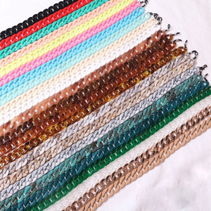 40 Colors Fashion Acrylic Eyewear Glasses Hanging Neck Chain Cool Thick Sunglasses Chain Link Cool Retro Designer
