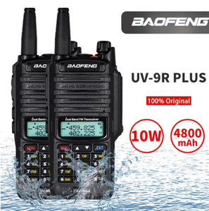 Wholesale radio ham for sale - Group buy 2020 Baofeng UV R plus w Waterproof Walkie Talkie High Power CB Ham KM Long Range UV9R portable Two Way Radio for hunting X DHL