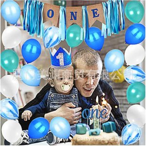 Wholesale 25 DIY Paper Garland Tassels Merry Christmas Baby one year birthday party decoration set Crown cap cake card balloon