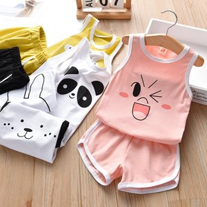 1-6year Fashion Baby Girl Clothing Sets Summer Vest Suits New Children\'S Clothing Set on Sale