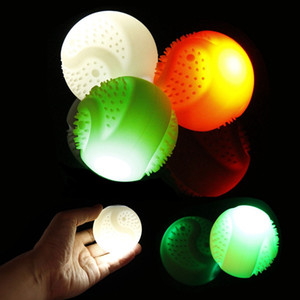 Wholesale LED Silicone Pet Luminous Ball USB Rechargeable Recycle Dog Toy Bite Resistant Chew Toy
