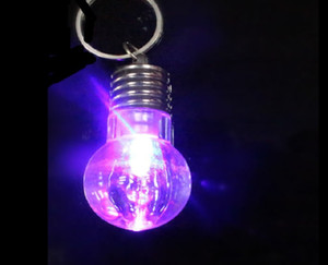 Wholesale Led Key Chain Toy Light Bulb Small Creative Gift Promotion Free Gift Mini Bulb RGB Colors White