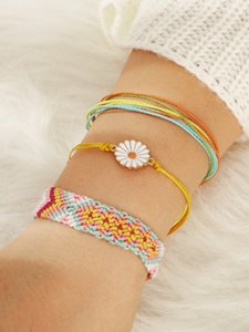 Wholesale Doreen Box New Fashion Colorful Beads Kawaii Cactus Pink Blue Rope Multilayer Bracelets For Women Party Jewelry Set