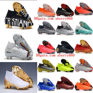 2019 mens soccer shoes Superfly 6 Elite CR7 SE FG soccer cleats Crampons de football boots Mercurial Superfly VI 360 Neymar Ronaldo