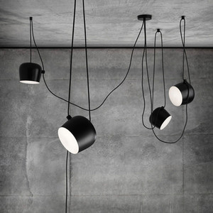 Wholesale scandinavian white pendant lights resale online - Scandinavian postmodern simple creative personality restaurant pendant lamp American industrial style pendant lights AC v