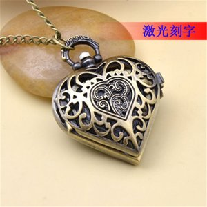 Wholesale watch snitch for sale - Group buy Retro Snitch Ball Shaped Quartz Pocket Watch lover heart Sweater copper Necklace Chain Gifts for Men Women kids