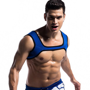 Wholesale Men Neoprene Fit Gym Sports Shoulder Strap Belt Body Muscle Chest Harness