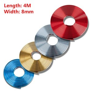 Wholesale 4M Universal Car Chrome Wheel Rim Hub Protector Light Decoration Grille Clip Strip Sticker Rubber Strips Car styling