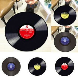 Wholesale Creative Retro D DVR Record Carpet Round CD Floor Mat Home Decor Living Room Kid Bedroom Decoration Gift For Music Fan Dropship