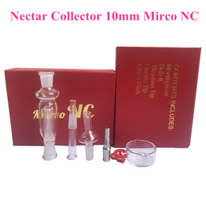 Nectar Collector Kit 10mm with Curved Glass Bowl happywater metal Nail Glass pipe 1pcs plastic clip In Stock DHL free delivery